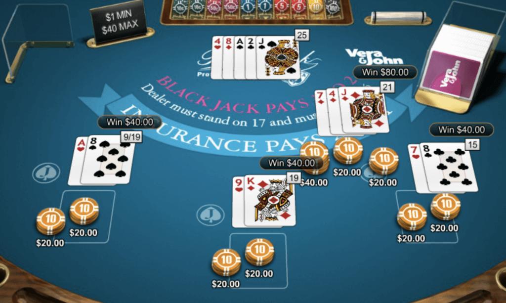 ブラックジャックで2万円勝ち