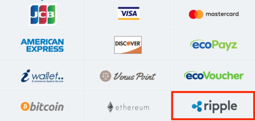 リップルで入金・出勤できるオンラインカジノ